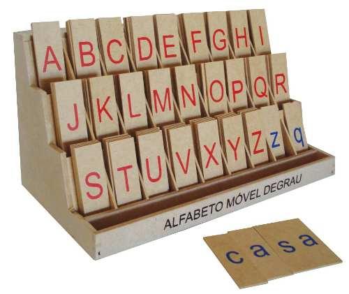 Brinquedos Educativos - Alfabeto Móvel Degrau 130 Peças