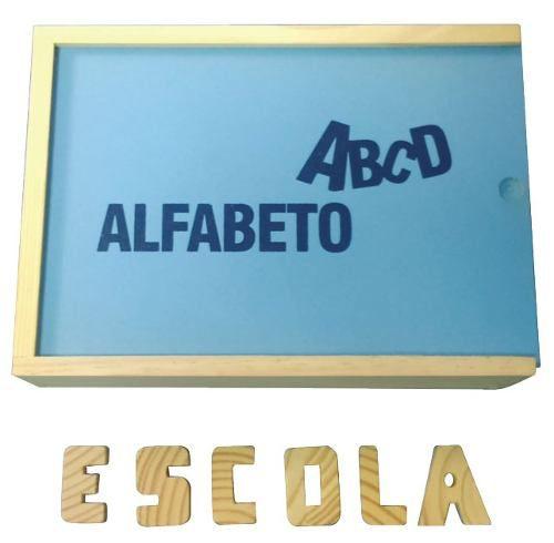 Brinquedos Educativos - Alfabeto Móvel em Madeira 40 Peças