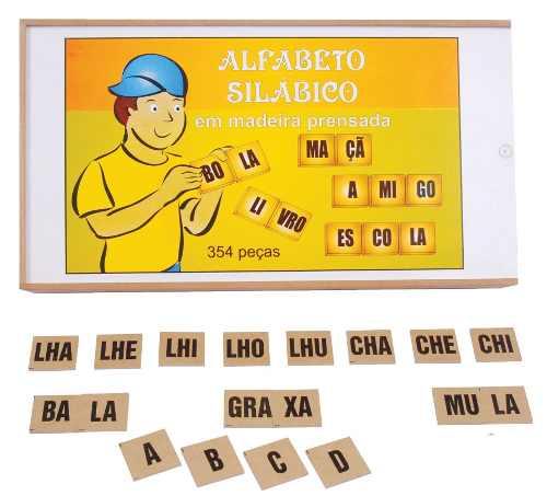 Brinquedos Educativos - Alfabeto Silábico 354 Peças