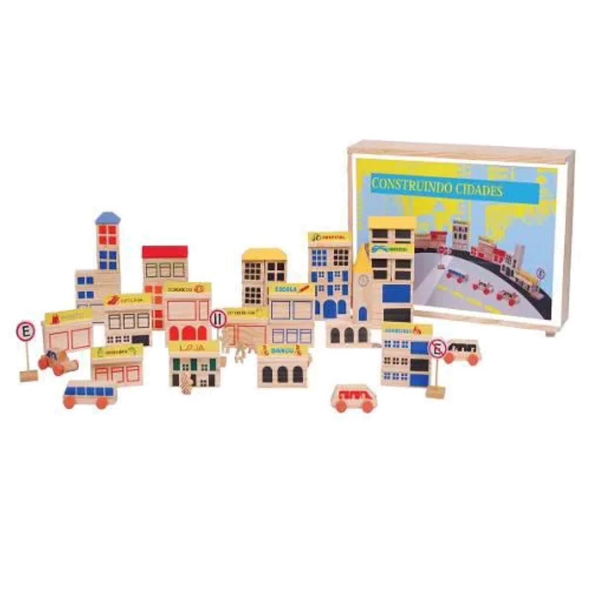 Brinquedos Educativos Blocos Construindo Cidades 85 Peças