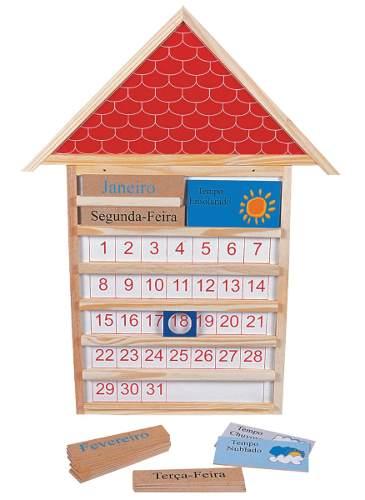 Brinquedos Educativos - Casinha Calendário 805 X 610 X 20mm