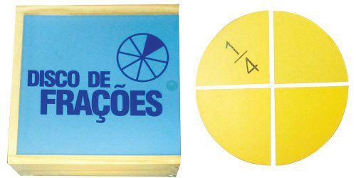 Brinquedos Educativos - Disco de Frações 24 Peças