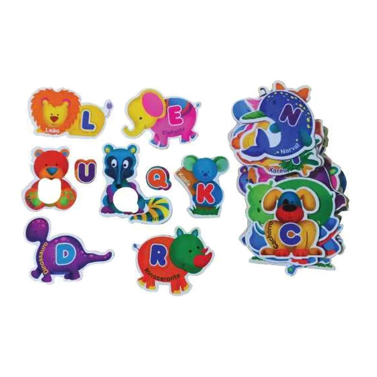 Brinquedos Educativos - Jogo Alfabeto Divertido 52 Peças
