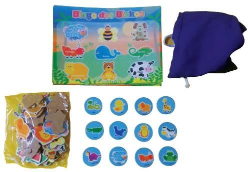 Brinquedos Educativos - Jogo Bingo dos Bichos 61 Peças