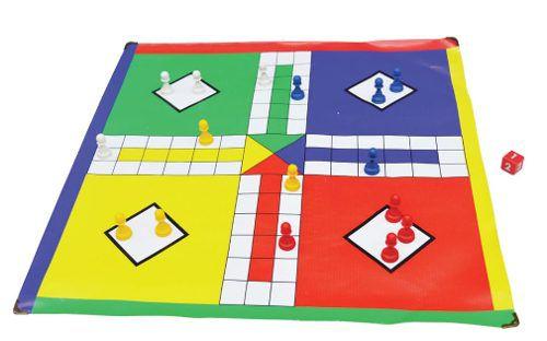 Brinquedos Educativos - Jogo de Ludo 45x45cm 17 Peças