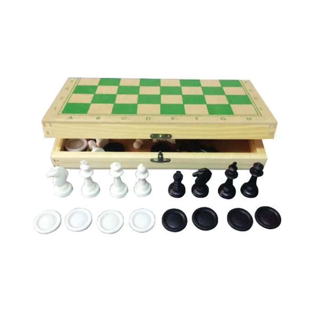 Brinquedos Educativos - Jogo de Xadrez e Damas