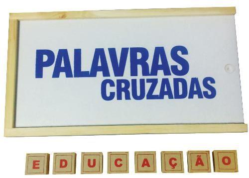 Brinquedos Educativos - Jogo Palavras Cruzadas 50 Peças