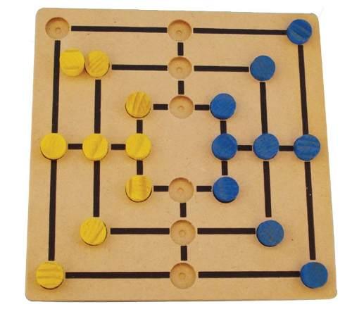 Brinquedos Educativos - Jogo Trilha em Madeira 18 Peças