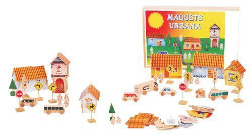 Brinquedos Educativos - Maquete Urbana 63 Peças