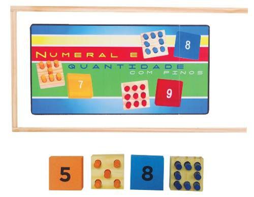 Brinquedos Educativos - Numeral E Quantidade Com Pinos 18und