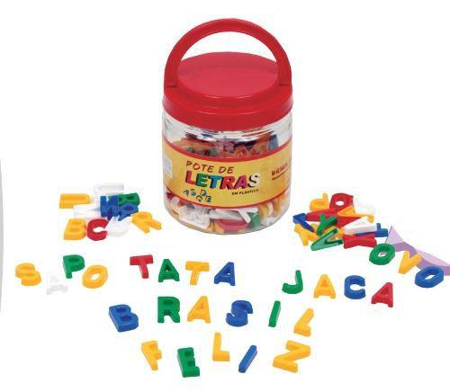 Brinquedos Educativos - Pote com Letras 171 Peças