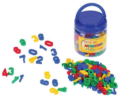 Brinquedos Educativos - Pote com Números 105 Peças