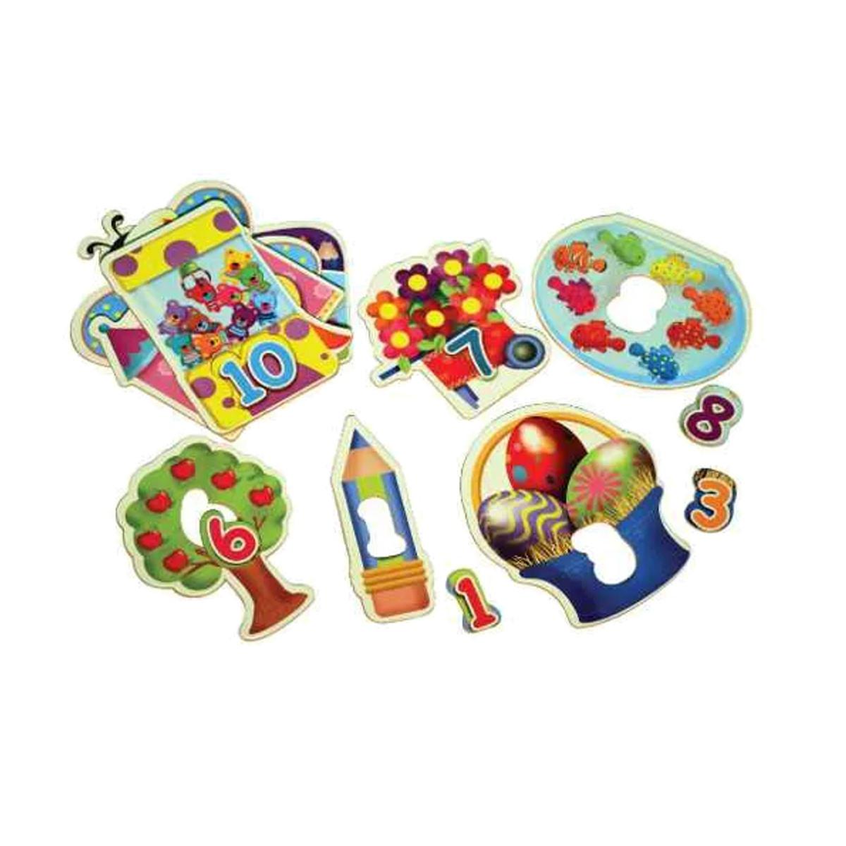 Brinquedos Educativos - Quebra Cabeça 1 Ao 10 20 Peças