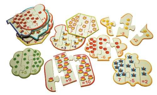 Brinquedos Educativos  Quebra Cabeça Adição Subtração 60und