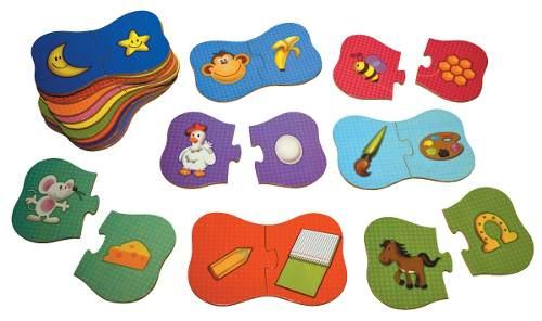 Brinquedos Educativos - Quebra Cabeça Associação 36 Peças