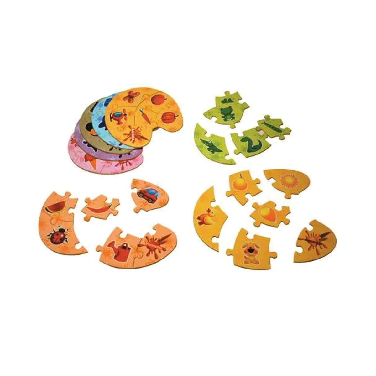 Brinquedos Educativos Quebra Cabeça Associação Cores 48und