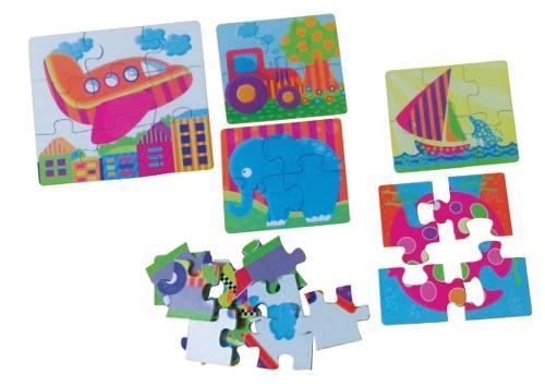 Brinquedos Educativos - Quebra Cabeça Divertido 38 Peças