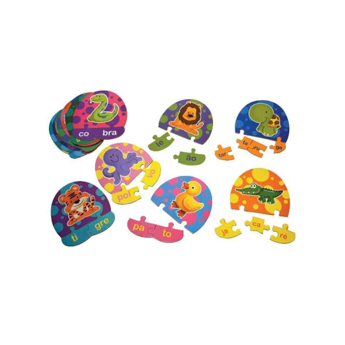 Brinquedos Educativos - Quebra-cabeça Divisão Silábica 55und