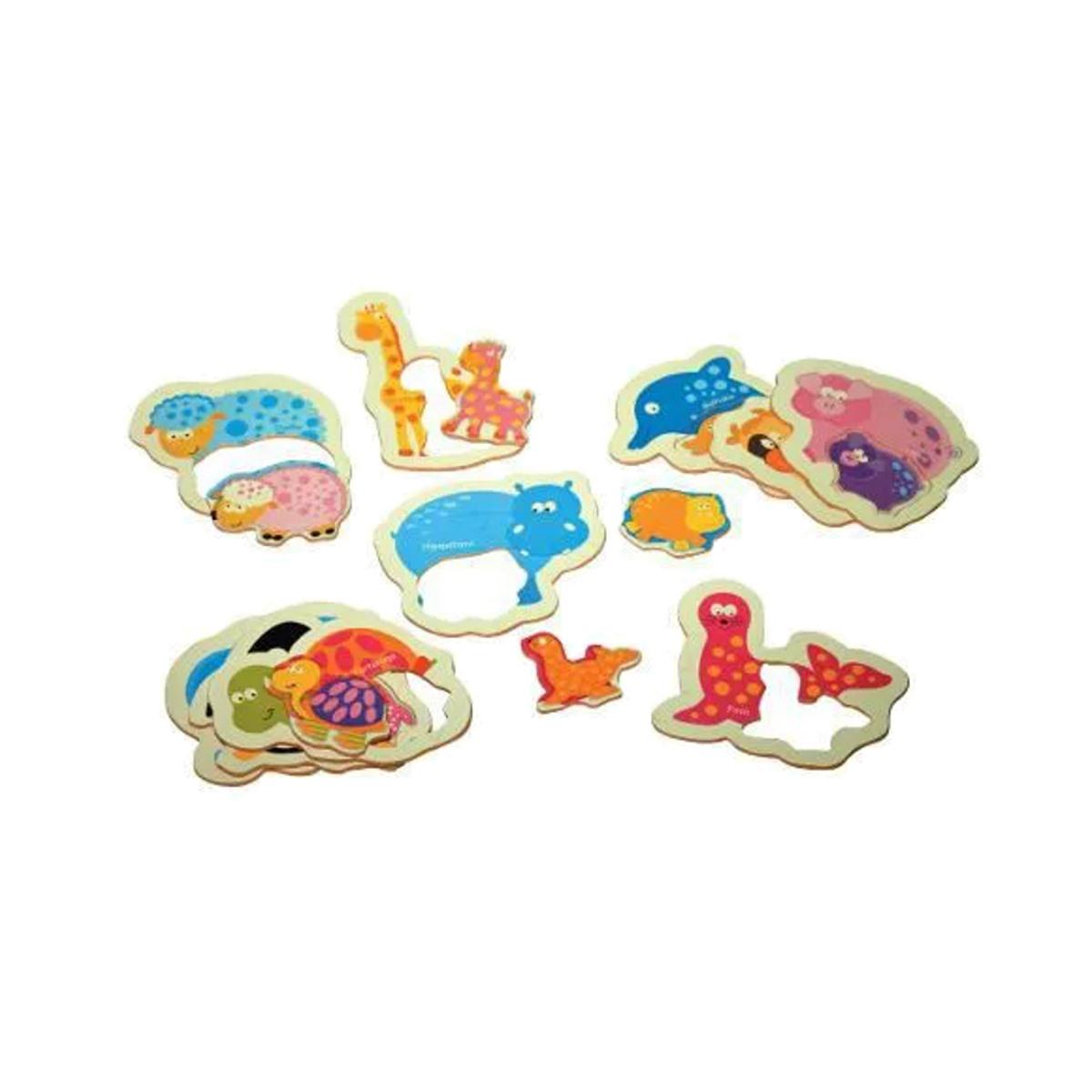 Brinquedos Educativos - Quebra Cabeça Mamãe e Filhote 20und