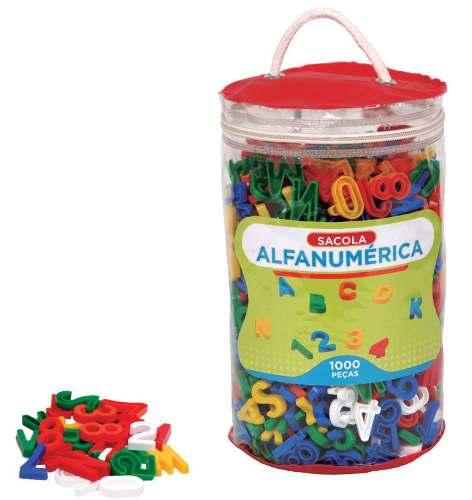 Brinquedos Educativos - Sacola Alfanumérica 1000 Peças