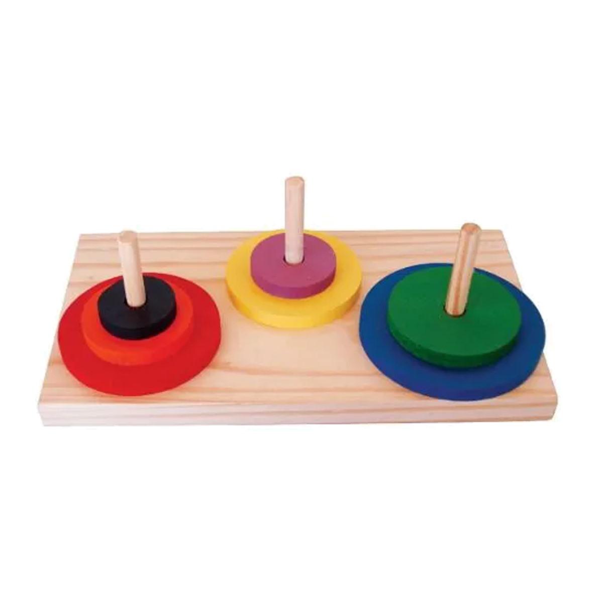 Brinquedos Educativos - Torre de Hanoi 7 Peças