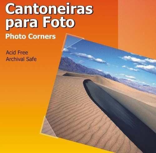 Cantoneiras P/ Moldura de Foto Transparente 250 Cantoneiras