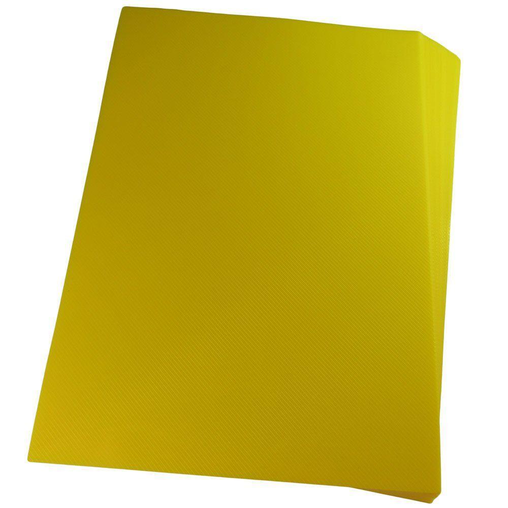 Capa para encadernação A3 Amarela PP Line 0,30mm 100un
