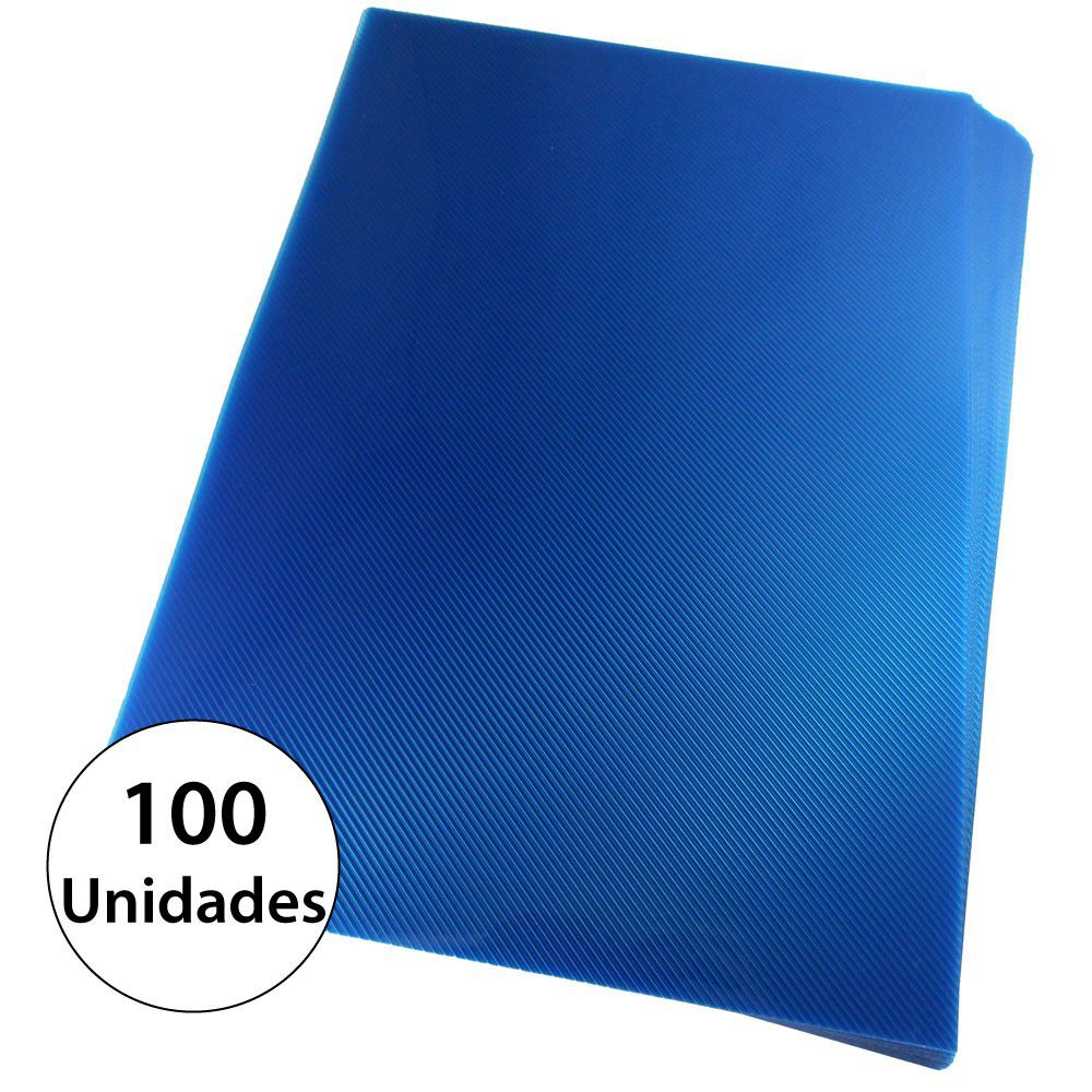 Capa para encadernação A3 Azul PP Line 0,30mm 100un