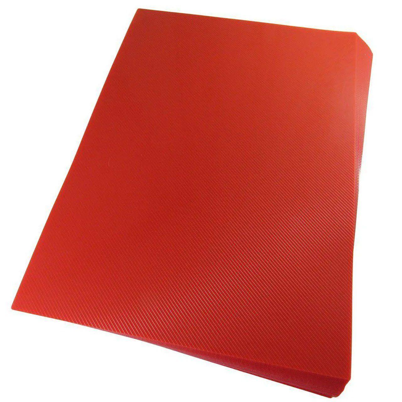 Capa para encadernação A3 Vermelha PP Line 0,30mm 100un