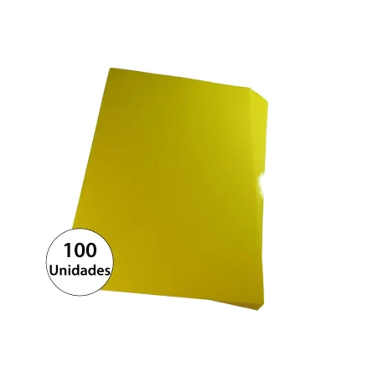 Capa para encadernação A4 Amarela PP Line 0,30mm 100un