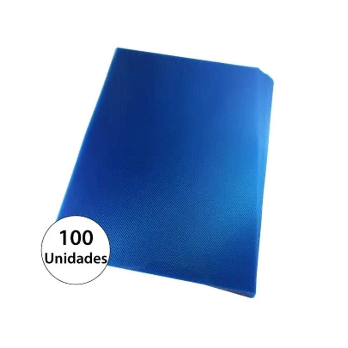 Capa para encadernação A4 Azul PP Line 0,30mm 100un
