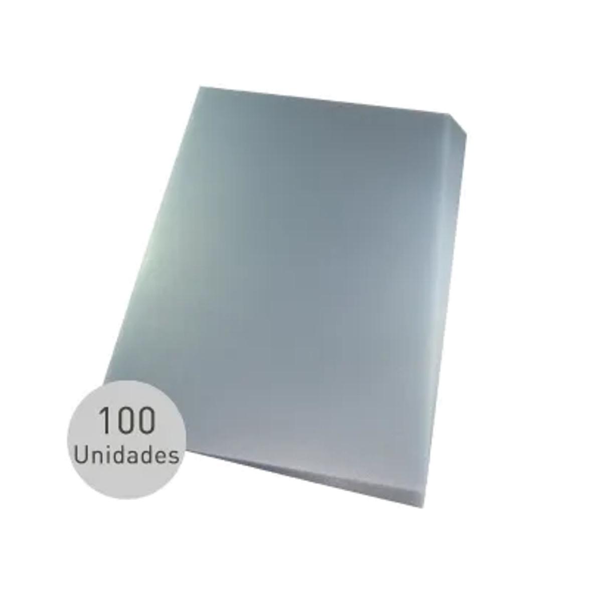 Capa para encadernação A4 Transparente PP Couro 0,30mm 100un