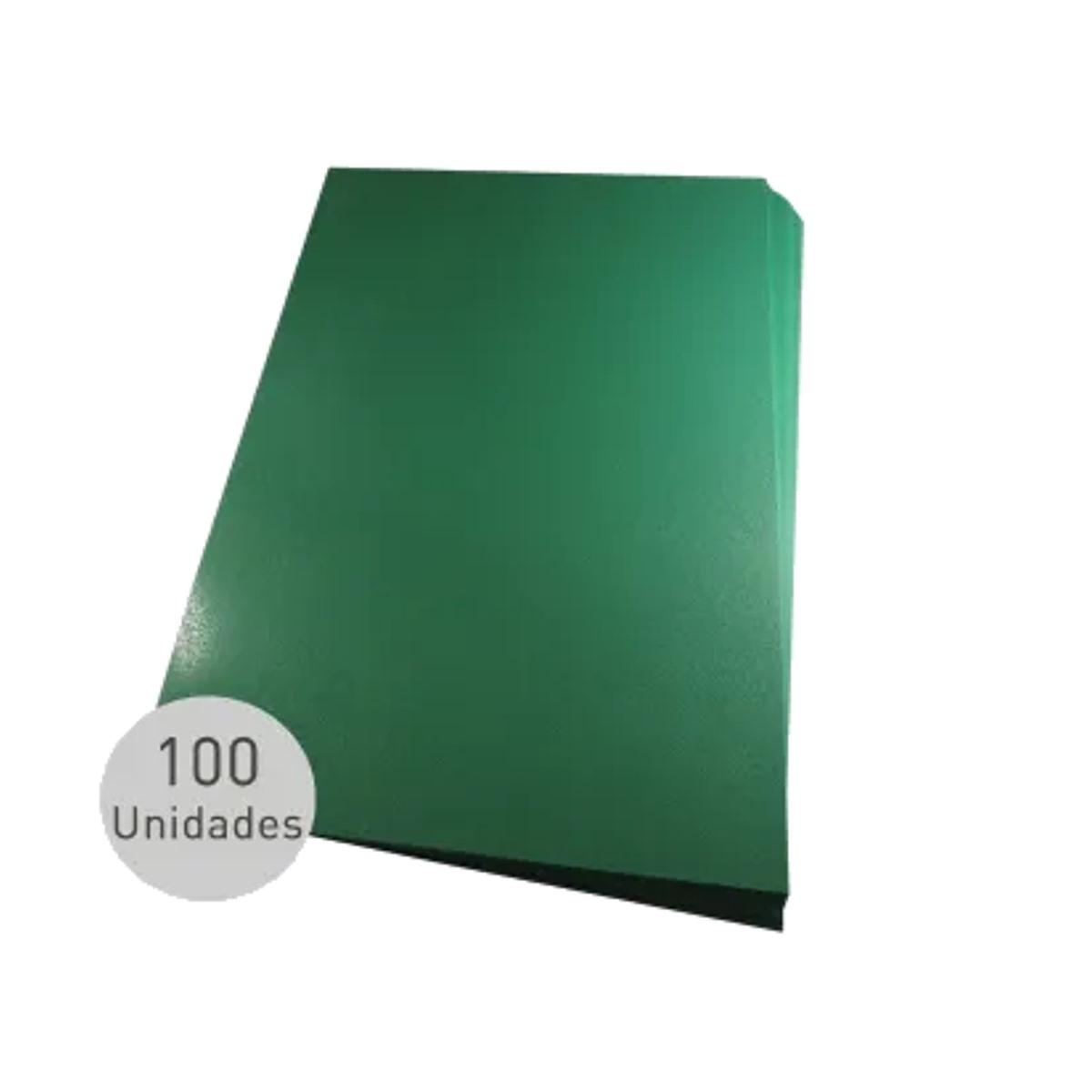 Capa para encadernação A4 Verde PP Couro 0,30mm 100un