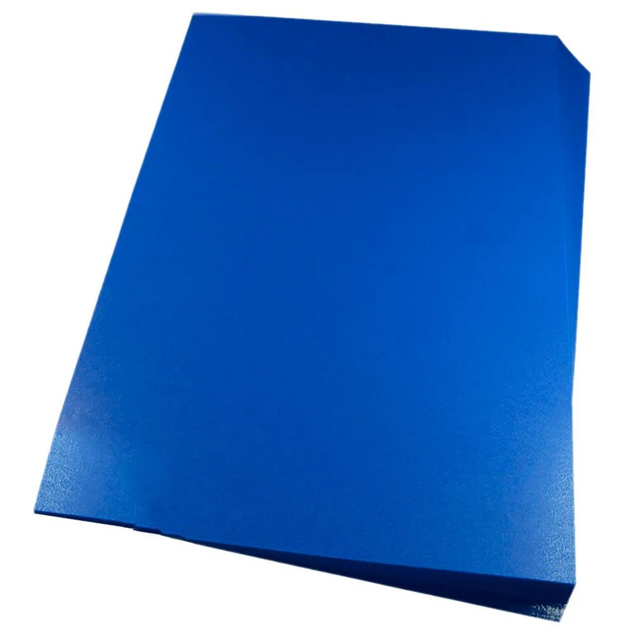 Capa para encadernação Ofício Azul PP Couro 0,30mm 100un