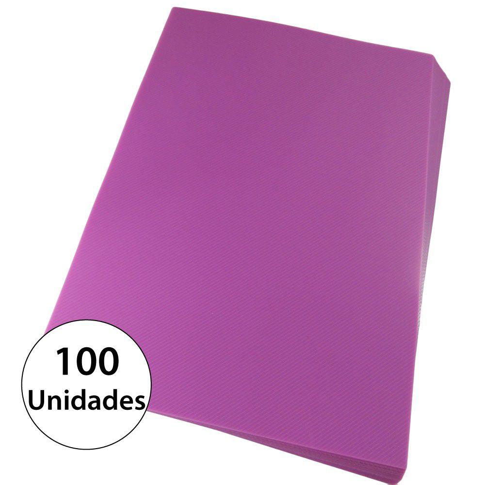 Capa para encadernação Ofício Rosa PP Line 0,30mm 100un