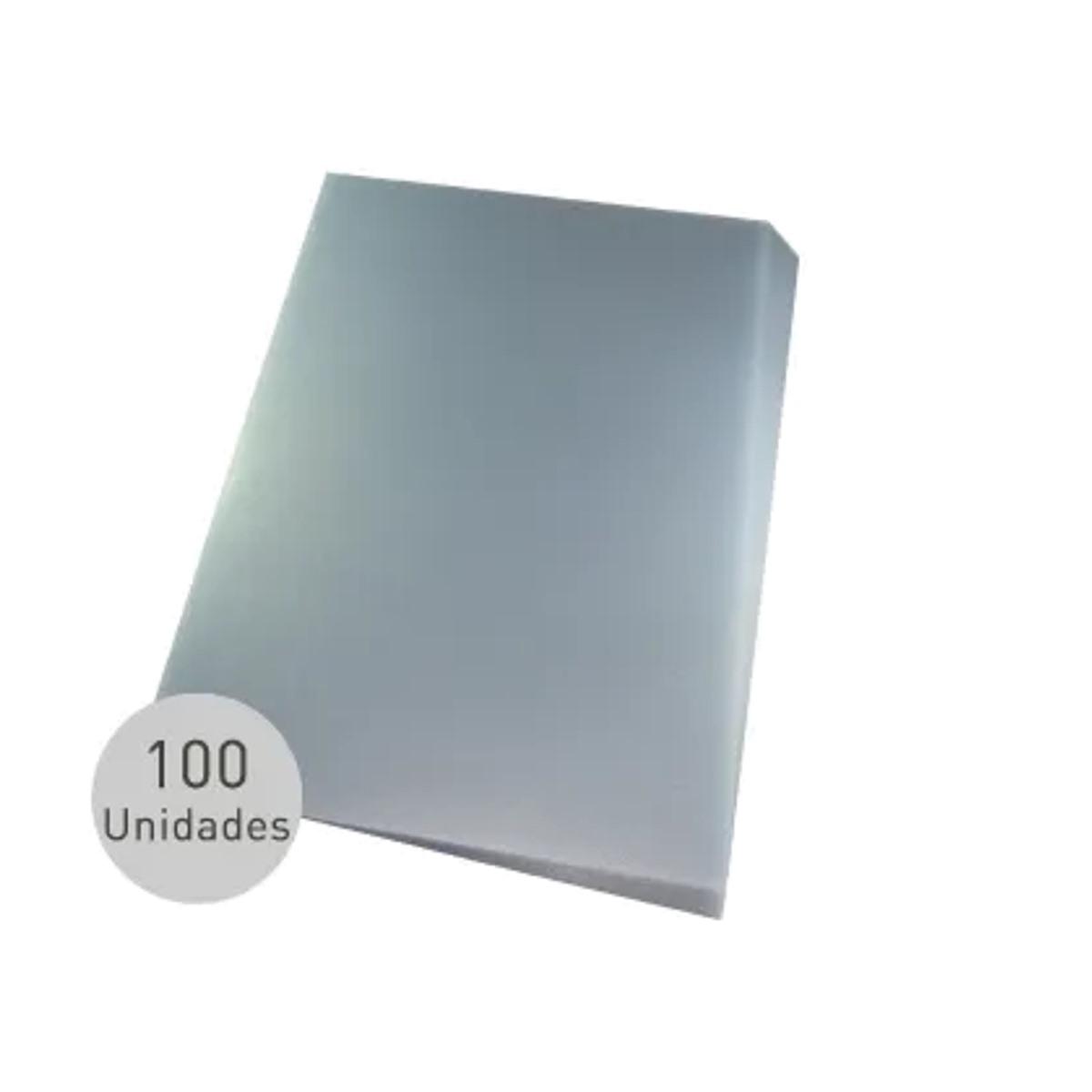 Capa para encadernação Ofício Transparente PP Couro 0,30mm 100un