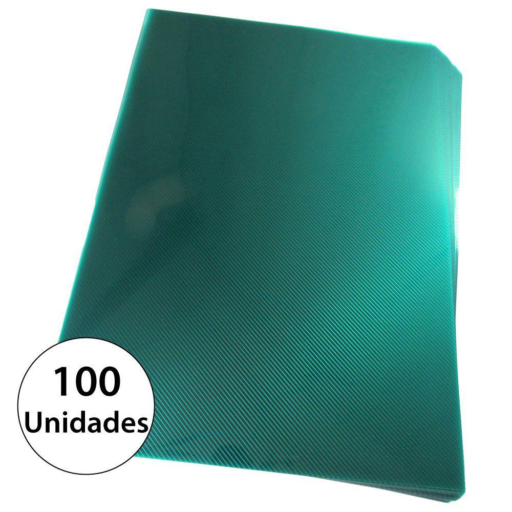 Capa para encadernação Ofício Verde PP Line 0,30mm 100un