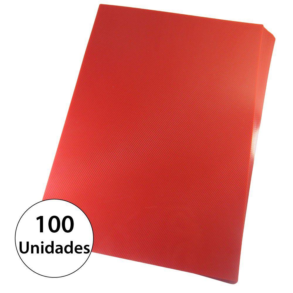 Capa para encadernação Ofício Vermelha PP Line 0,30mm 100un