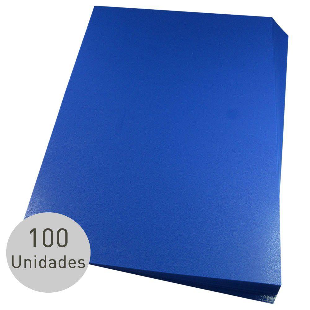 Capas para Encadernação Azul Tamanho Ofício 0,28 de Pvc