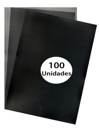 Capas para Encadernação Preta Tamanho Ofício 0,28  de Pvc