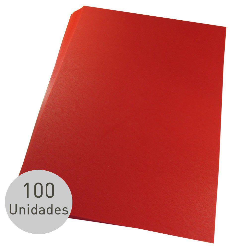 Capas para Encadernação Vermelha Tamanho Ofício 0,28 de Pvc
