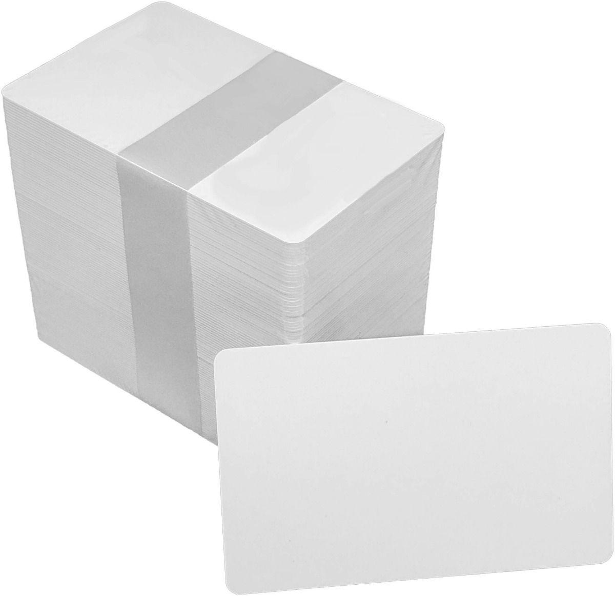 Cartão de Pvc Branco para Crachá 54 X 86mm 0,76mm - 25 Unid