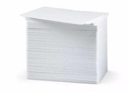 Cartão de Pvc Branco para Crachá 54 X 86mm 0,76mm - 50 Unid