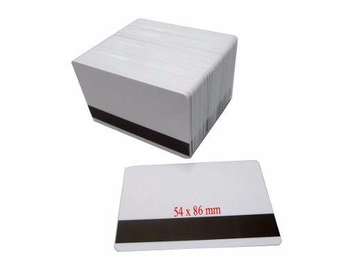 Cartão de PVC Branco para Crachá 54 X 86mm com Tarja - 50 Und