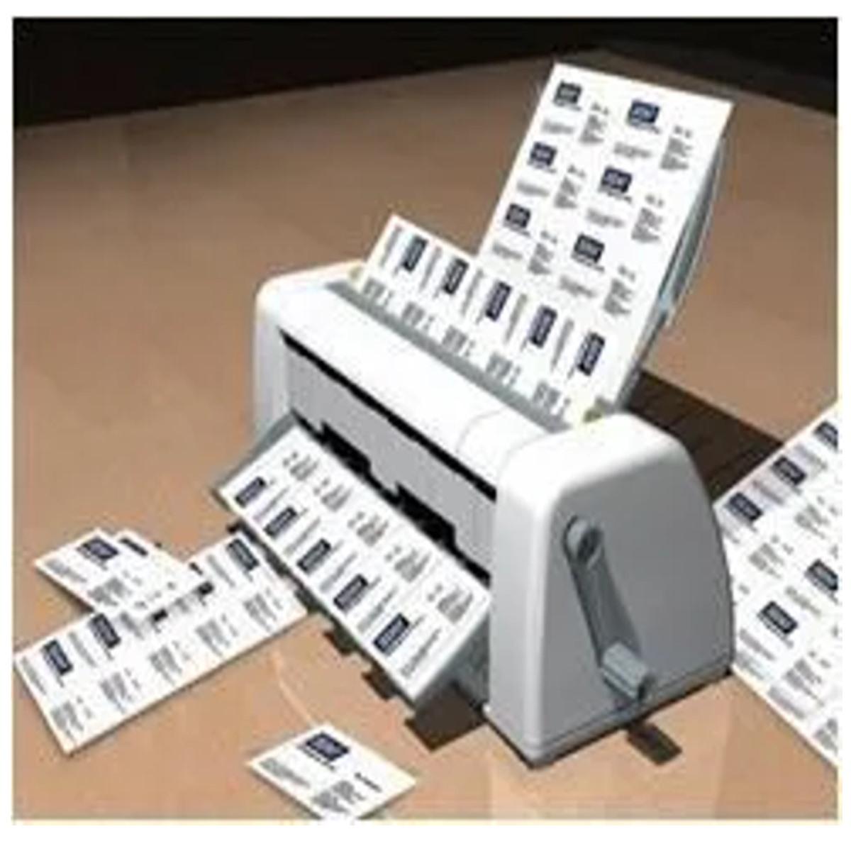 Cortador de Cartão de Visita Manual - Corte de 02 Modelos