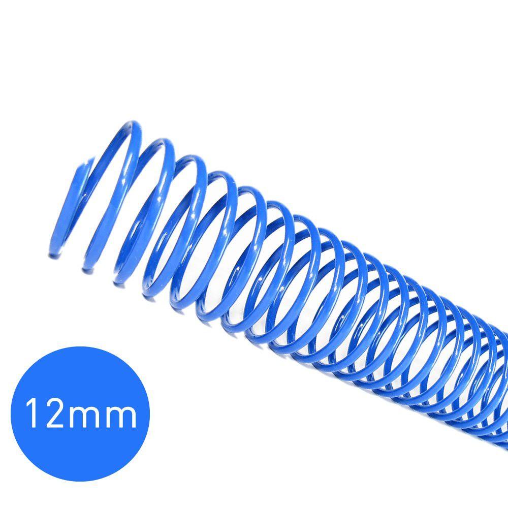 Espirais para Encadernação Azul 12mm 70 Folhas 100 und