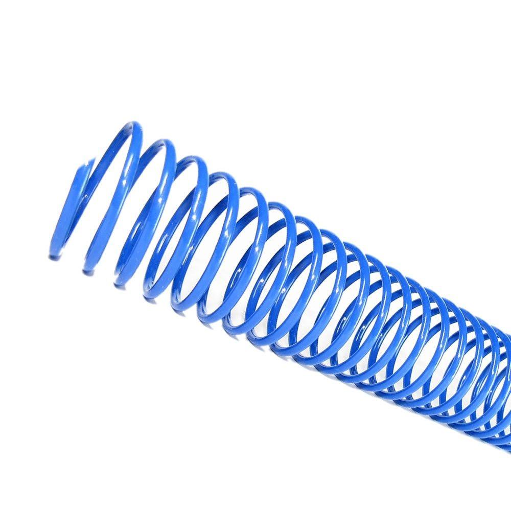 Espirais para Encadernação Azul 17mm 100 Folhas 100 und