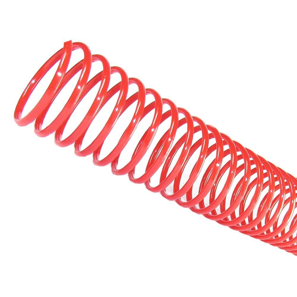 Espiral para Encadernação Vermelho 7mm 25 Folhas 100 und