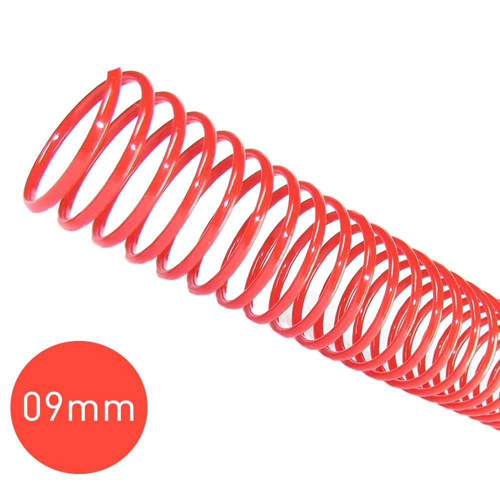 Espiral para Encadernação Vermelho 9mm 50 Folhas 100 und