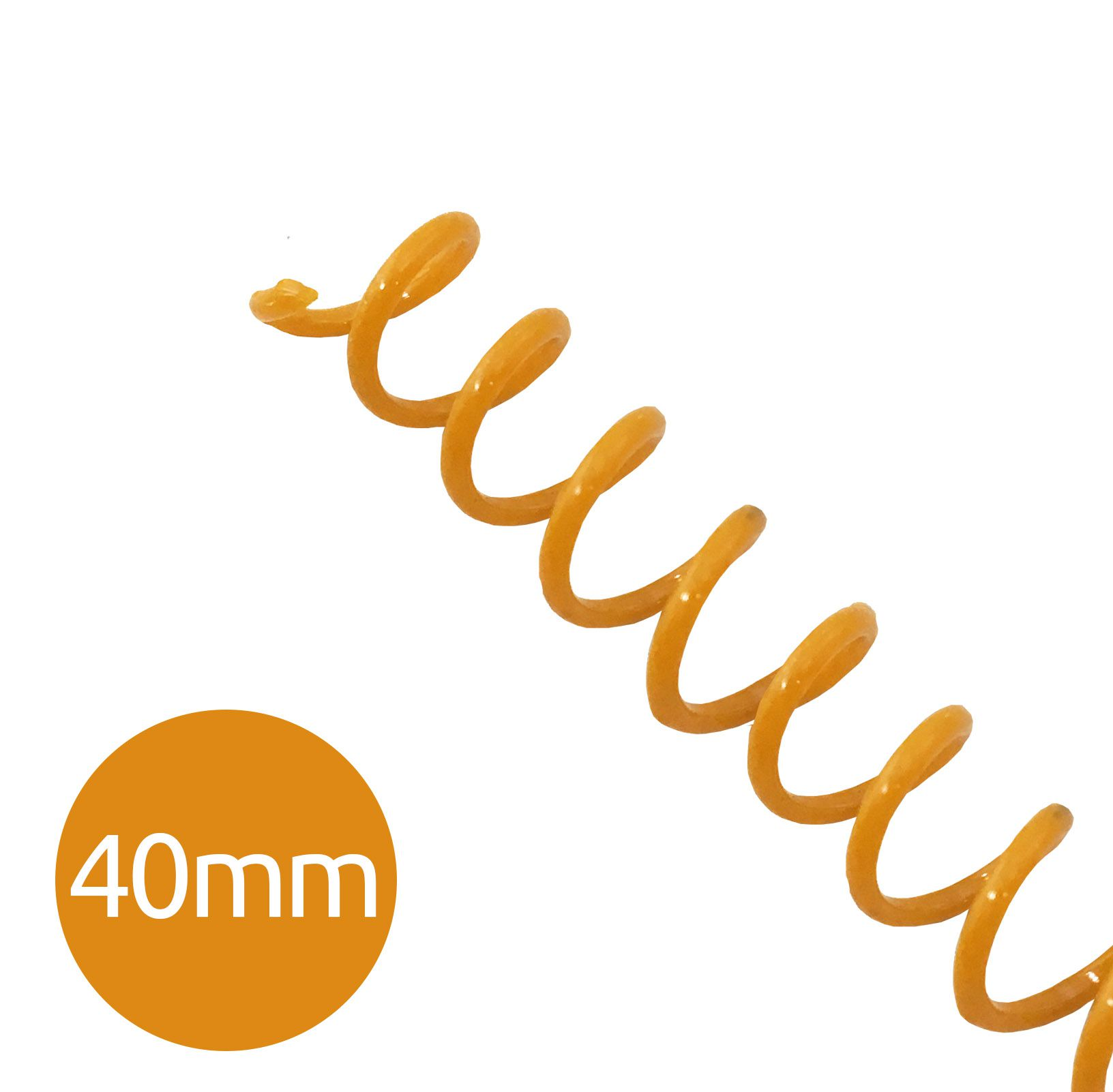 Espiral pra Encadernação Laranja 40mm 350 Folhas 20 und